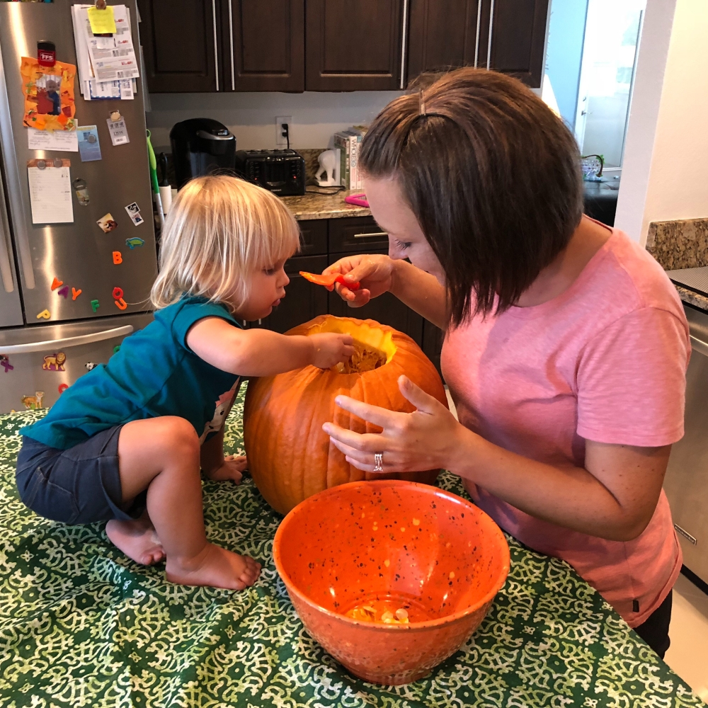 Pumpkin Carving with my Pumpkin